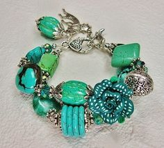 TURQUOISE Statement Chunky Western COWGIRL by CayaCowgirlCreations, $42.50