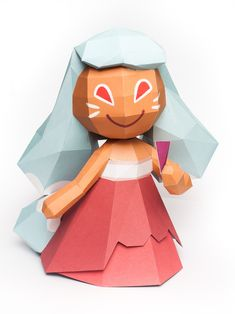 Ninetails Cookie from Cookie Run Papercraft Model Download Free Template Here