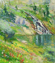 "Don Sahli ""Waterfall Loch Lomond"" 24 x 20 Oil on Board"