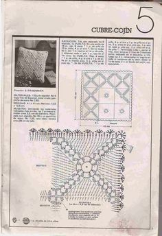 Patrón #279: Cubre Cojín a Crochet ~ CTejidas [Crochet y Dos Agujas]