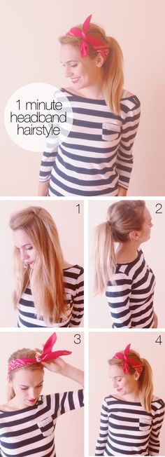 DIY Summer Headband Hairstyle Bandana