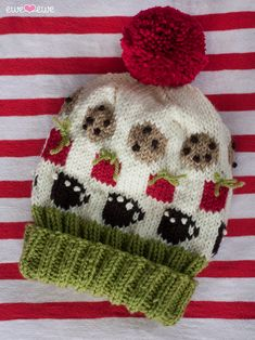 Santa's Favorite Things Christmas Hat Knitting Pattern - cookies, presents, and hot chocolate Knitting Blogs, Knitting Designs, Knitting Patterns Free, Knitting Projects, Crochet Patterns, Christmas Hat, Christmas Knitting, Christmas Crafts, Knit Or Crochet