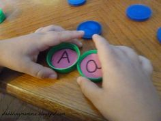 Bottle Cap Letter Matching and Memory Game... easy to create!