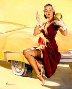 Gil Elvgren - 36 Artworks, Bio & Shows on Artsy Pin Up Girl Vintage, Vintage Pins, Vintage Art, Gil Elvgren, Glamour, Pin Up Art, Famous Artists, Artist Art, Retro