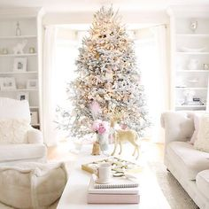 | #flockedtree #target #anthropologie #WhiteChristmas #pinkChristmas #rugsusa #deckingforholidays #inspirememonday