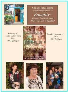 """1-15-17 Coalesce Bookstore Group Book Signing for """"Equality"""""""