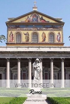 Basilica di San Paolo fuori le mura. What to see in Rome, Italy. All places on the map.  #rome #italy #travel