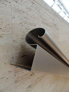 kimbell museum - fort worth - louis kahn - stair handrail detail:
