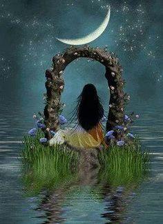 Moon night art