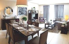 Open areas dinning living room