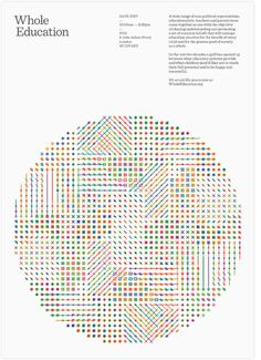 Whole Education poster by Wire Design