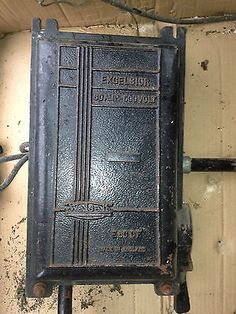 large cast fusebox industrial ,age circa 1920s excelsior made in england
