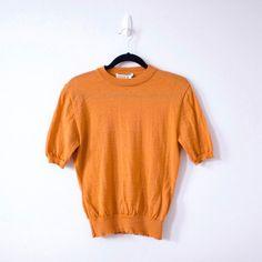 Salvatore Ferragamo 80s Vintage Orange Knit Top by GemlyVintage #Minimalist