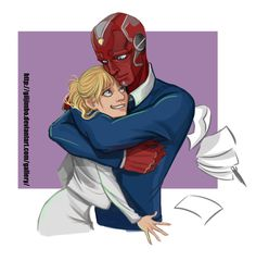 The Vision and Pepper Potts