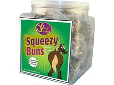 Uncle Jimmy's Squeezy Buns are all natural horse treats that are loaded with nutritional ingredients for your horse. http://www.totally-tack.co.uk/p_1017_uncle-jimmys-squeezy-buns