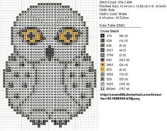 Hedwig - Harry Potter owl pattern by on deviantART Cross Stitch Owl, Beaded Cross Stitch, Counted Cross Stitch Patterns, Cross Stitch Charts, Cross Stitch Designs, Cross Stitching, Cross Stitch Embroidery, Owl Embroidery, Harry Potter Quilt