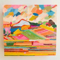 Painting Inspiration, Art Inspo, Pastel, Abstract Landscape, Landscape Quilts, Cool Art, Original Art, Plywood, Illustration Art