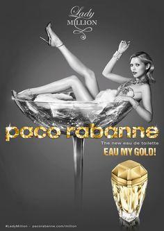Женская туалетная вода Lady Million Eau My Gold! 80ml edt от Paco Rabanne - #PacoRabanne #parfuminRussia #vasharomatru