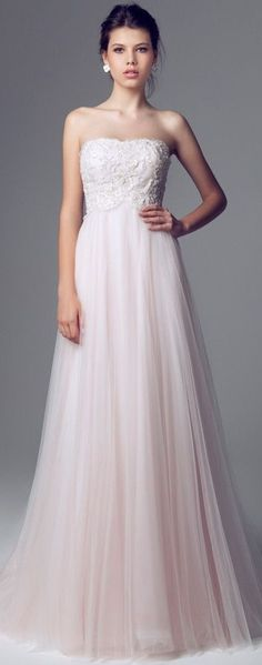 Blumarine Bridal - 2014 - Strapless Pink Wedding Dress
