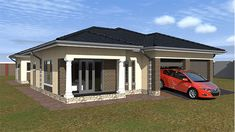 Save time and money with our Budget House Plans at discounted prices. Get a FREE House Plan Floor Layout design for your property. Home Design Plans, Plan Design, Design Ideas, Dream Homes, My Dream Home, Flat Roof House, Free House Plans, House Plans With Photos, Architectural Services