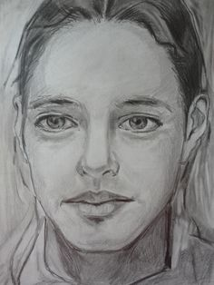 """""""Rosto"""" - Desenho a lápis de grafite HB e 6B sobre papel (1)"""