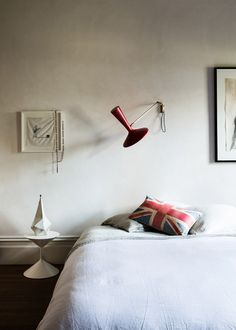 Bedroom in the Melbourne home of Lisa Gorman and Dean Angelucci via thedesignfiles.net (pics by Sean Fennessy)