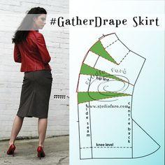 Dart Transfer is the secret of Drape Skirt Patterns: http://www.studiofaro.com/book-industry-workshops-advanced SAT 19 NOV #Sydney #PatternmakingClass