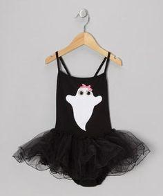 Black & White Ghost Tutu Leotard - Toddler & Girls $21.99 by Zulily