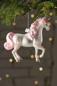 Shop Urban Outfitters for the perfect holiday home decor and Christmas gifts. With candles, blankets, ornaments, and more, we've got your holiday house gifts covered. Real Unicorn, Unicorn And Glitter, Magical Unicorn, Rainbow Unicorn, Unicorn Party, Unicorn Birthday, Birthday Tree, Pink Glitter, Unicorn Christmas Decoration