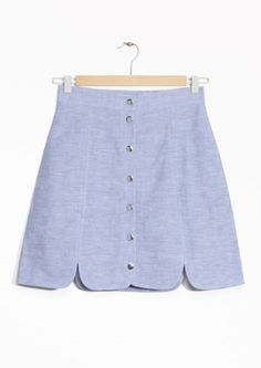 $55 & Other Stories | Linen-Chambray Skirt