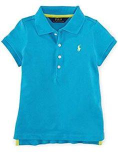 Ralph Lauren Little Girls' Tennis Tail Polo Shirt Sorority Shirts, Mom Shirts, Polo Tees, Polo Shirt, Casual Coats For Women, Discount Clothing, Formal Shirts, Sweater Fashion, Sweater Shirt