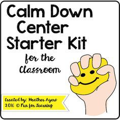 This little freebie has the visuals you need to implement a calm down center in your classroom:  posters, self-calming strategy cards, & visuals for deep breathing.  Also includes an editable teacher letter explaining how to use the visuals.  Enjoy!---------------------------------------------------------------------------------------------Need more visual supports in your classroom?