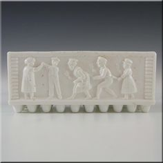 Sowerby Victorian White Milk Glass Posy Trough - Marked - £79.99
