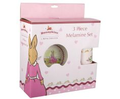 Bunnykins 3 Piece Melamine Set - Sweetheart Set includes: 1 Plate, 1 Bowl, 1 Cup. Made from Melamine..  #Bunnykins #Toy