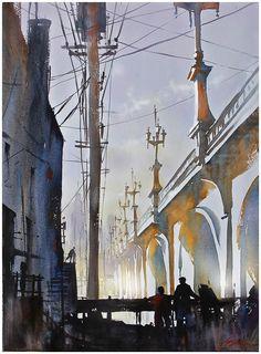 Olympic Boulevard Bridge - Los Angles by Thomas Schaller