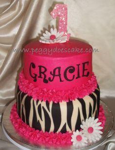 Zebra print cake, adorable for a little girl. I want it for myself, I LOVE zebra print :) Zebra Birthday Cakes, Zebra Print Birthday, Beautiful Cakes, Amazing Cakes, Zebra Print Cakes, Zebra Cakes, Gateaux Cake, Girl Cakes, Creative Cakes