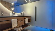 modern otthon, fürdőszoba - Luxuslakások Decor, Furniture, Bathroom Lighting, Vanity, Lighted Bathroom Mirror, Loft Design, Home Decor, Bathroom Mirror, Bathroom