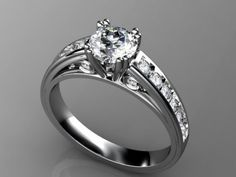 2 ctw palladium ring by WroughtGold on Etsy, $6120.00