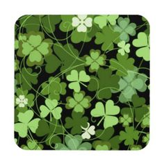 Green Irish Shamrock Coasters