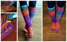 Ardor, Zest.: February Knitting: Noro Striped Knee-Highs