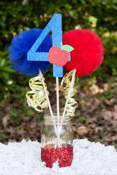 Your place to buy and sell all things handmade Snow White Centerpiece Table Decoration White Party Decorations, Party Centerpieces, Snow White Party Ideas, Snow White Centerpiece, Disney Princess Birthday, Princess Party, Snow White Birthday, 4th Birthday Parties, Birthday Ideas