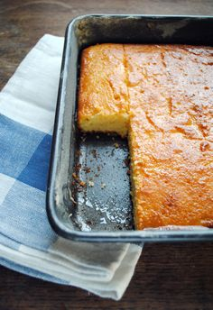 Cypriot Semolina Cake - looks like lovely moist cake with lots of flavour!