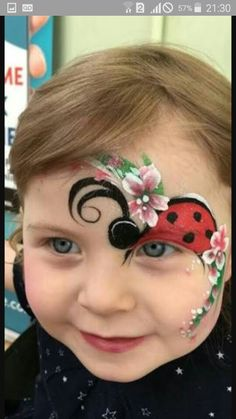 Easy halloween face painting ideas for cheeks can help you in adding so much fun to any party. Face painting is a very good as well as fun way Ladybug Face Paint, Easter Face Paint, Animal Face Paintings, Animal Faces, The Face, Face And Body, Face Painting Designs, Body Painting, Tinta Facial