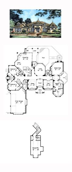 Victorian House Plan 63067 | Total Living Area: 3064 sq. ft., 4 bedrooms and 4 bathrooms. #victorianhouse