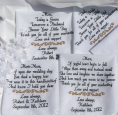 Wedding Gift for Parents Embroidered Wedding by CanyonEmbroidery, $91.50