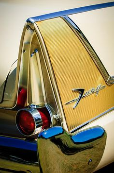 Plymouth Images by Jill Reger - Images of Plymouths - 1958 Plymouth Fury Golden Commando Taillight Emblem