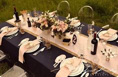 blush and blueberries theme