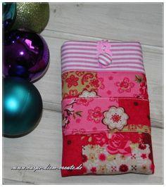 Handy Tasche  Flower & Stripes von Carpe diem create auf DaWanda.com