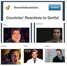 Countries react to Gerita! Pewdiepie's face killed me xD
