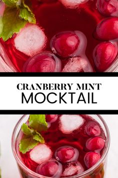 Cranberry Mint Mocktail Recipe - This mocktail is the perfect holiday party beverage! The red cranberries and green mint echo the colours of the season, with a sweet, refreshing and bubbly tang! Cranberry Color, Cranberry Juice, Holiday Drinks, Party Drinks, Fresh Cranberries, Frozen Fruit, Fresh Mint, Holiday Festival, Favorite Holiday